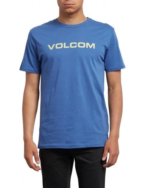 Volcom Crisp Euro Short Sleeve T-Shirt in Blue Drift