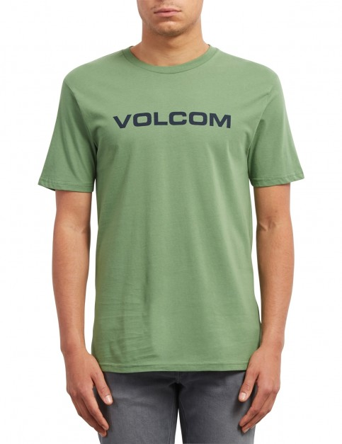Volcom Crisp Euro Short Sleeve T-Shirt in Dark Kelly