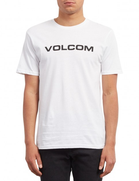 Volcom Crisp Euro Short Sleeve T-Shirt in White