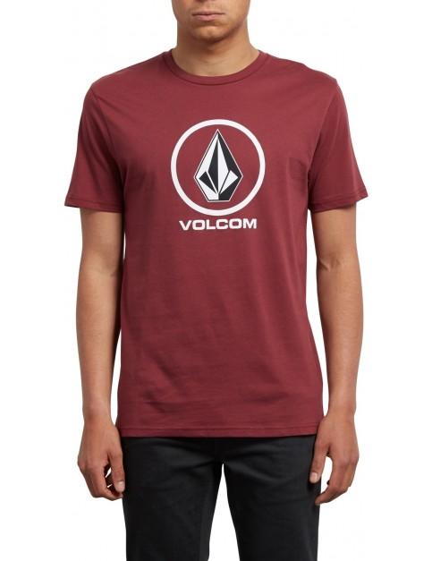 Volcom Crisp Short Sleeve T-Shirt in Crimson