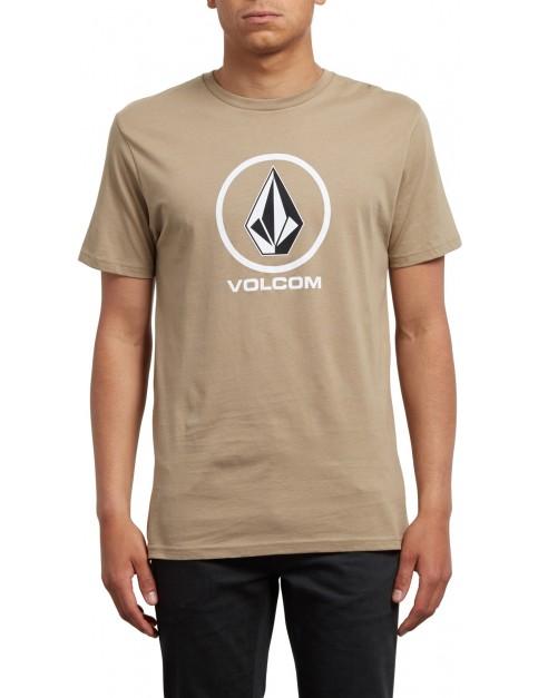 Volcom Crisp Short Sleeve T-Shirt in Sand Brown