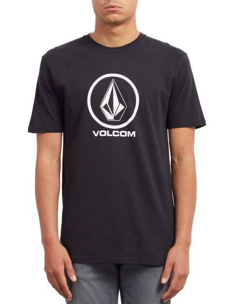 Volcom Crisp Stone Short Sleeve T-Shirt in Black