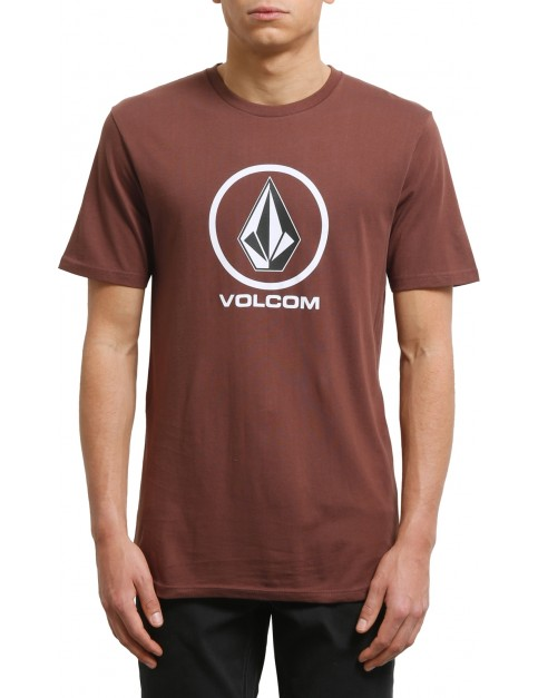 Volcom Crisp Stone Short Sleeve T-Shirt in Bordeaux Brown