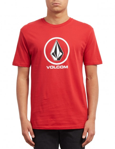 Volcom Crisp Stone Short Sleeve T-Shirt in Engine Red