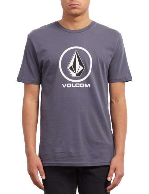 Volcom Crisp Stone Short Sleeve T-Shirt in Midnight Blue