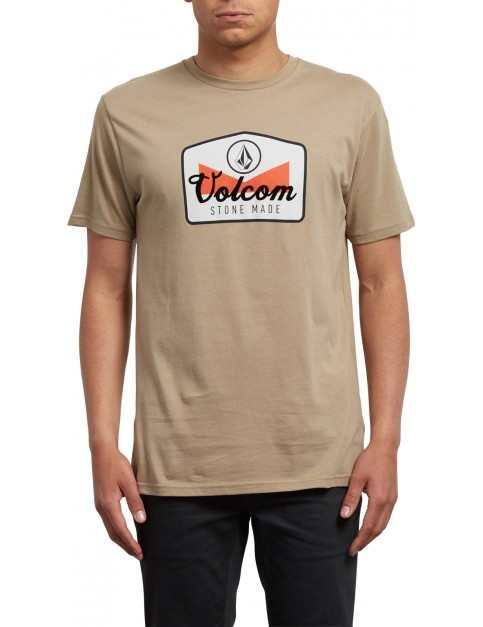 Volcom Cristicle Short Sleeve T-Shirt in Sand Brown