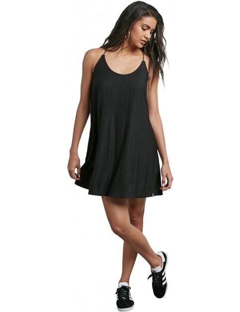 Volcom Cross Check Dress in Black