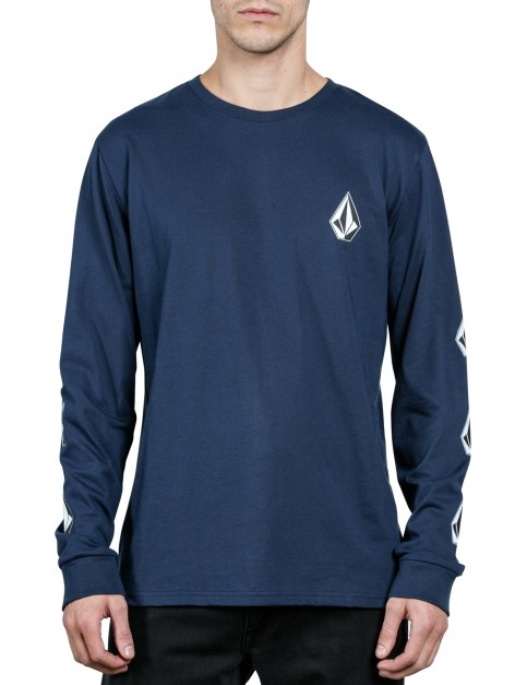 Volcom Deadly Stone Long Sleeve T-Shirt in Indigo