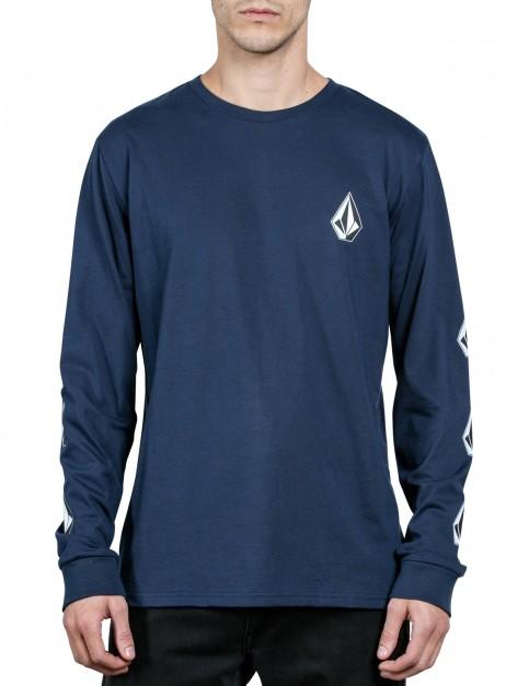 Volcom Deadly Stone Long Sleeve T-Shirt in Indigo