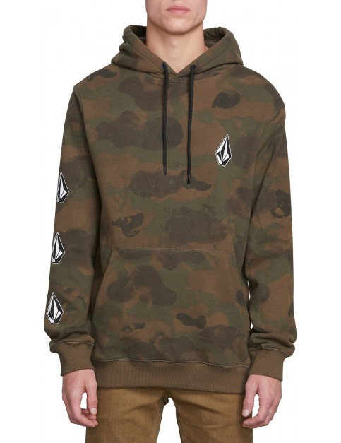 Volcom Deadly Stones Pullover Hoody in Camouflage