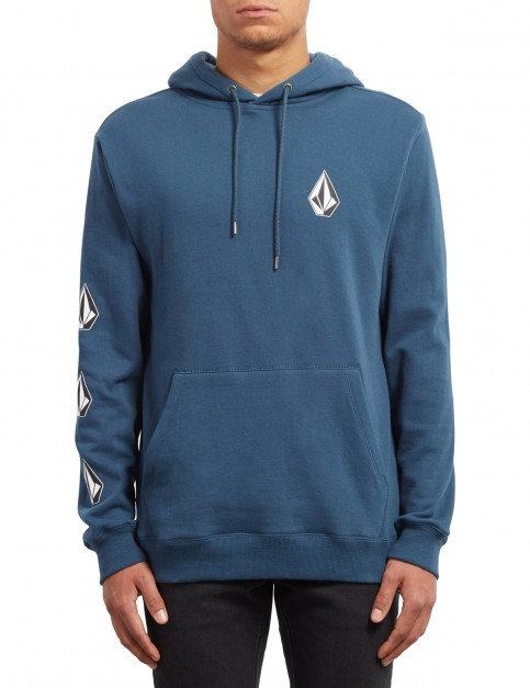 Volcom Deadly Stones Pullover Hoody in Navy Green