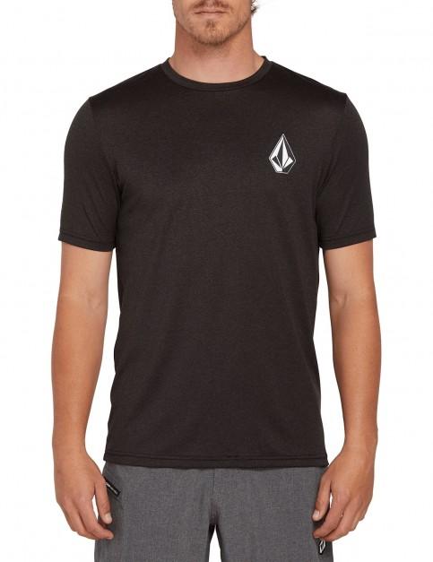 Volcom Deadly Stones S/S Short Sleeve Rash Vest in Black
