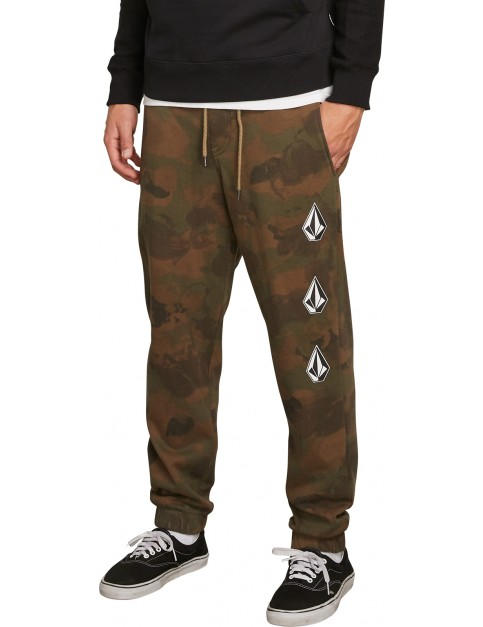 Volcom Deadly Stones Track Trousers in Camouflage