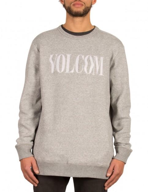 Volcom Discord Crew Sweatshirt in Grey