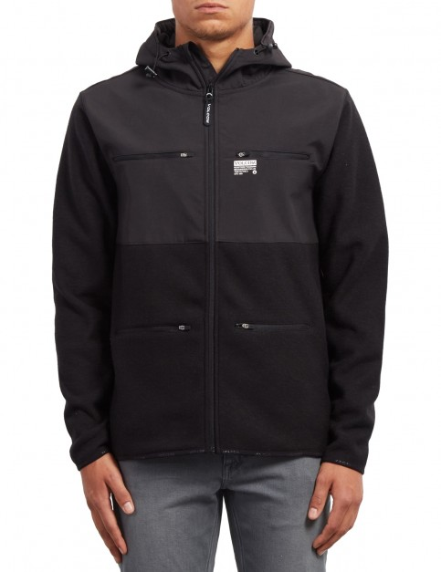 Volcom Doked Zipped Hoody in Black