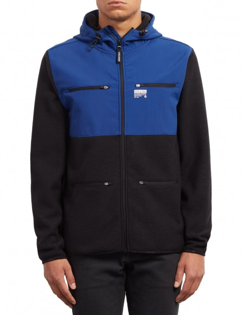 Volcom Doked Zipped Hoody in Matured Blue