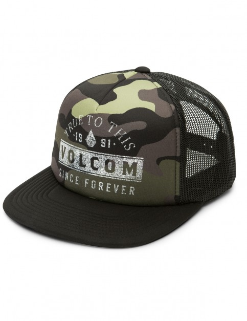 Volcom Don't Even Trip Cap in Dark Camo