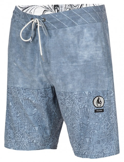 Grey Blue Volcom Dpendleton Slinger Technical Board Shorts