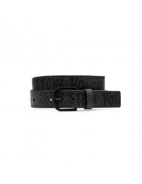Asphalt Black Volcom Draft Faux Leather Belt