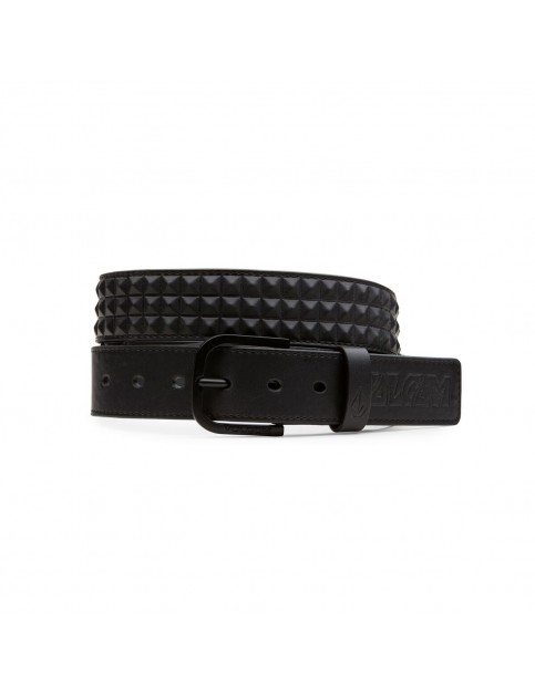 New Black Volcom Draft Faux Leather Belt
