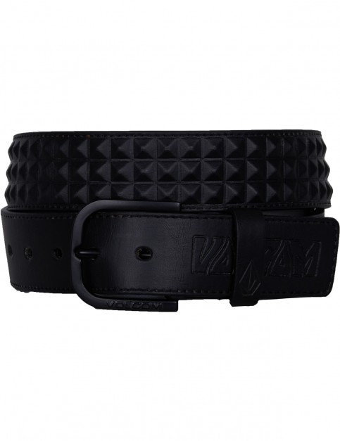 Volcom Draft Faux Leather Belt in New Black