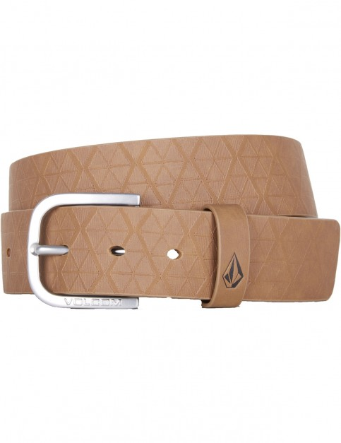 Volcom Draft Pu Belt Faux Leather Belt in Mud