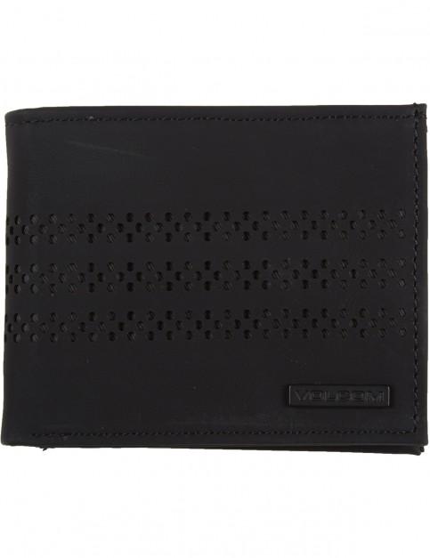 Volcom Draft Pu Wallet Faux Leather Wallet in Black