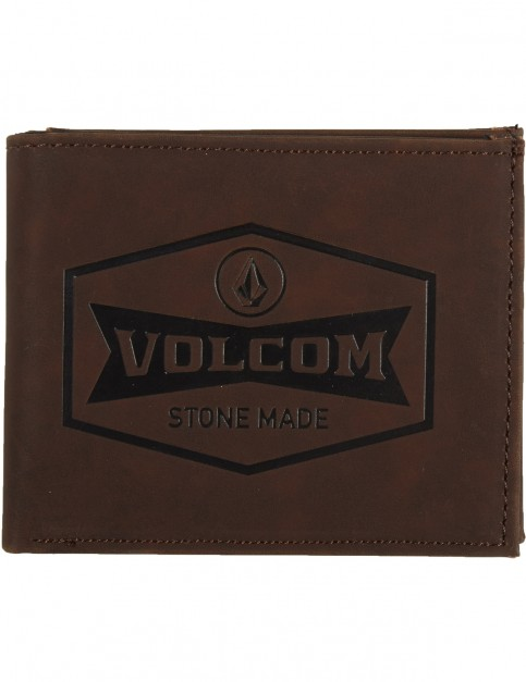 Volcom Draft Pu Wallet Faux Leather Wallet in Dark Chocolate