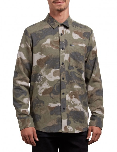Volcom Dragstone Long Sleeve Shirt in Camouflage