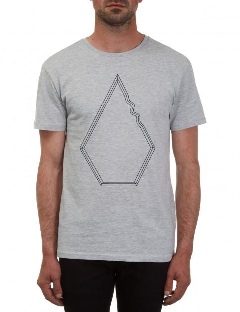 Volcom Drew Short Sleeve T-Shirt in Heather Grey