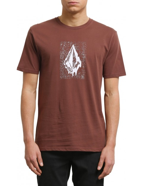 Volcom Drippin Out Short Sleeve T-Shirt in Bordeaux Brown