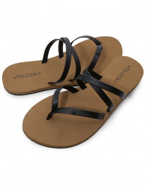 Volcom Easy Breezy Flip Flops in Black