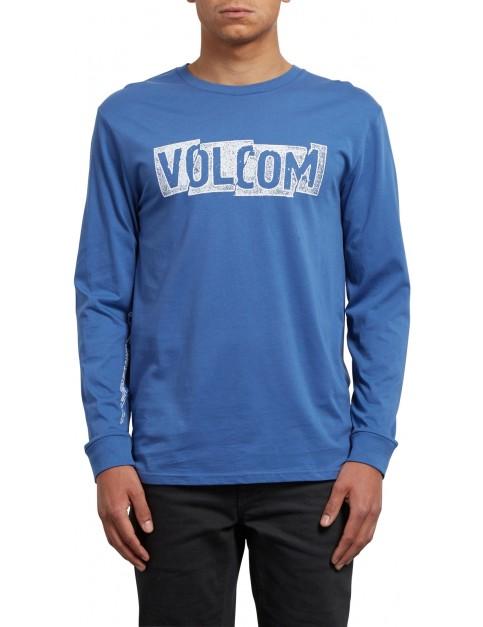 Volcom Edge Long Sleeve T-Shirt in Blue Drift