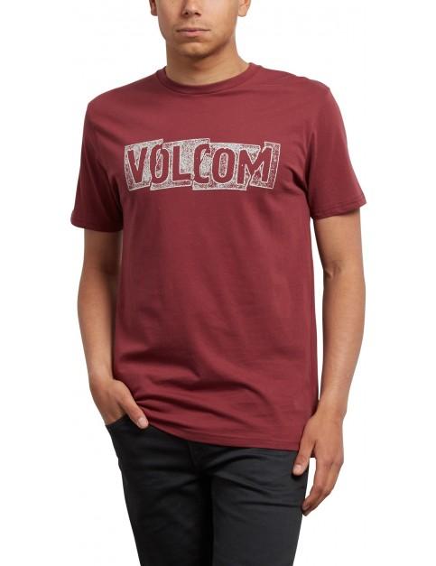 Volcom Edge Short Sleeve T-Shirt in Crimson