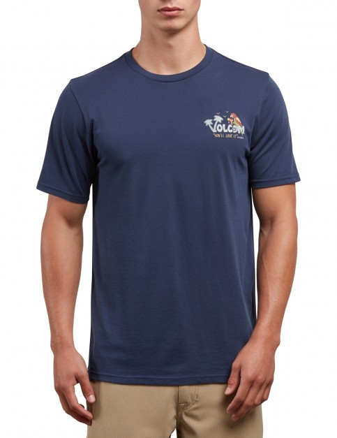 Volcom El Loro Loco Short Sleeve T-Shirt in Navy
