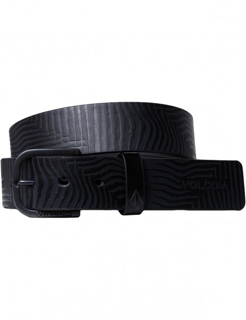 Volcom Empty Leather Belt in Black