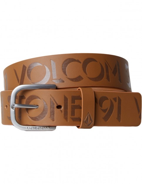 Volcom Empty Leather Belt in Brown