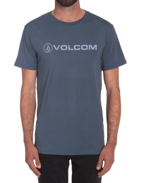 Airforce Blue Volcom Euro Pencil Short Sleeve T-Shirt