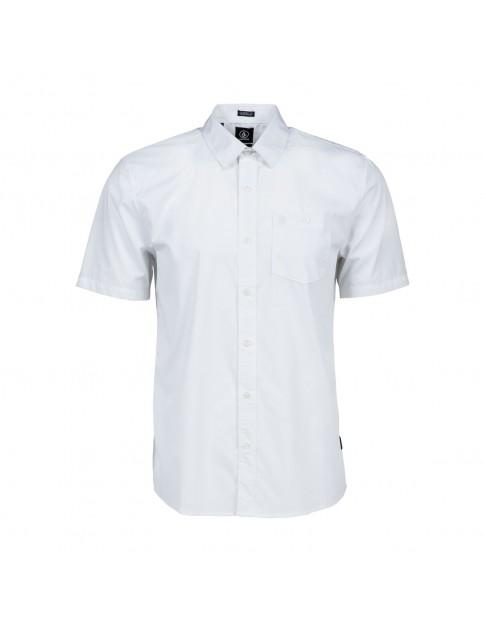 White Volcom Everett Short Sleeve Shirt