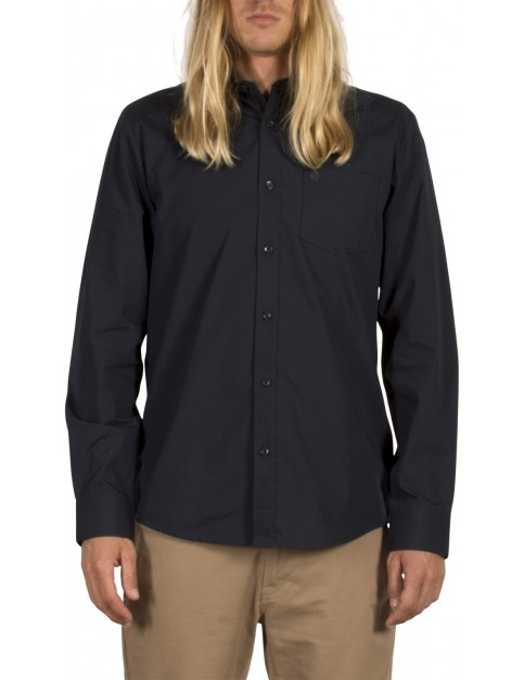 Volcom Everett Solid Long Sleeve Shirt in Navy