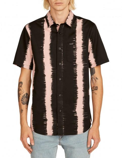 Volcom Fade This S/S Short Sleeve Shirt in Light Mauve