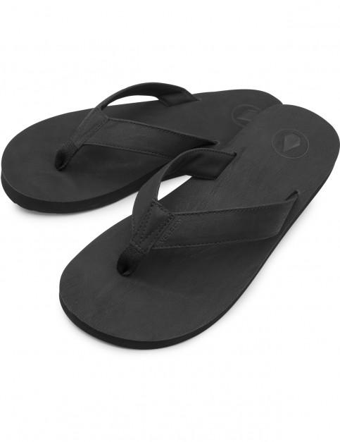 Volcom Fathom Flip Flops in Black