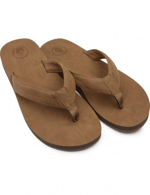 Volcom Fathom Flip Flops in Khaki