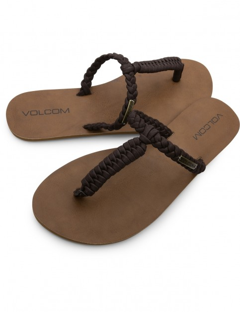 Volcom Fishtail Flip Flops in Brown