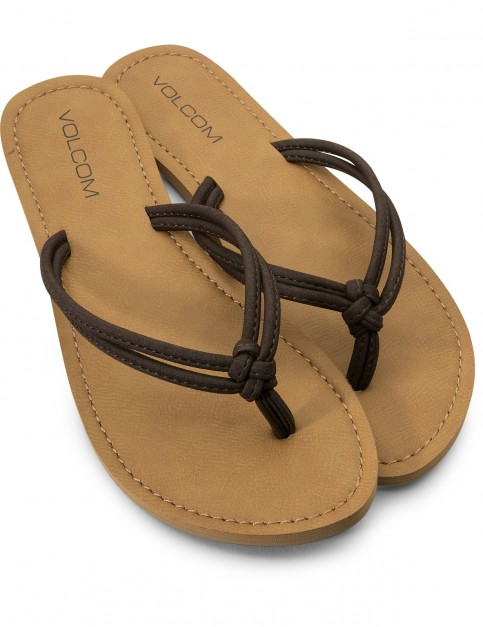 Volcom Forever 3 Flip Flops in Brown