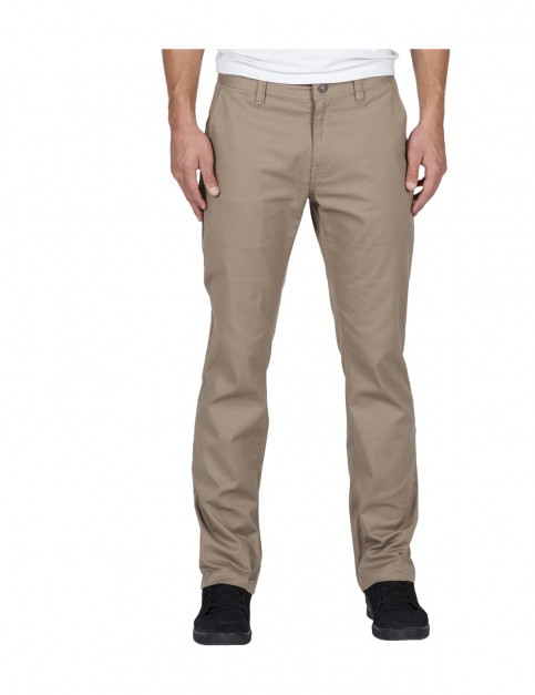 Volcom Frickin Modern Chino Trousers in Khaki