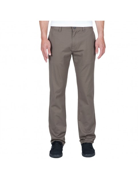 Volcom Frickin Modern Slim Fit Trousers in Mushroom