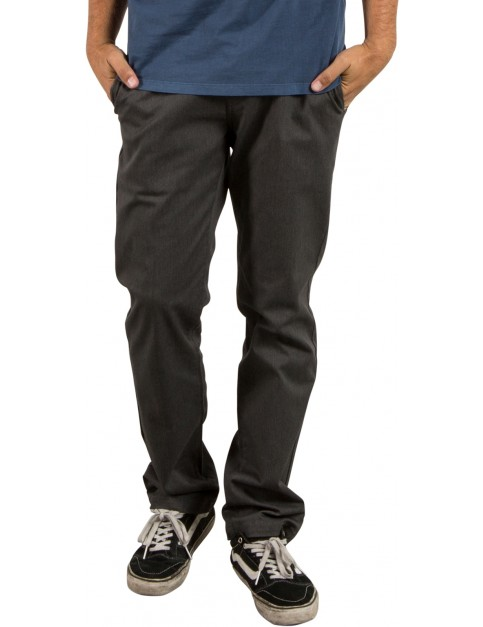 Volcom Frickin Modern Stret Chino Trousers in Charcoal Heather