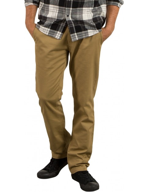 Volcom Frickin Modern Stret Chino Trousers in Dark Khaki