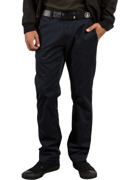 Volcom Frickin Modern Stret Chino Trousers in Dark Navy
